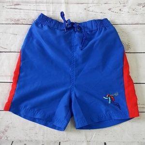 4/$25 Little Me blue swim trunks / bathing suit 4T